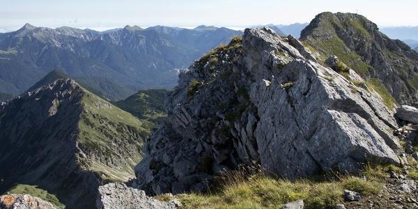 Beim Übergang von der Upsspitze zum Gipfel geht es manchmal etwas luftig zu.