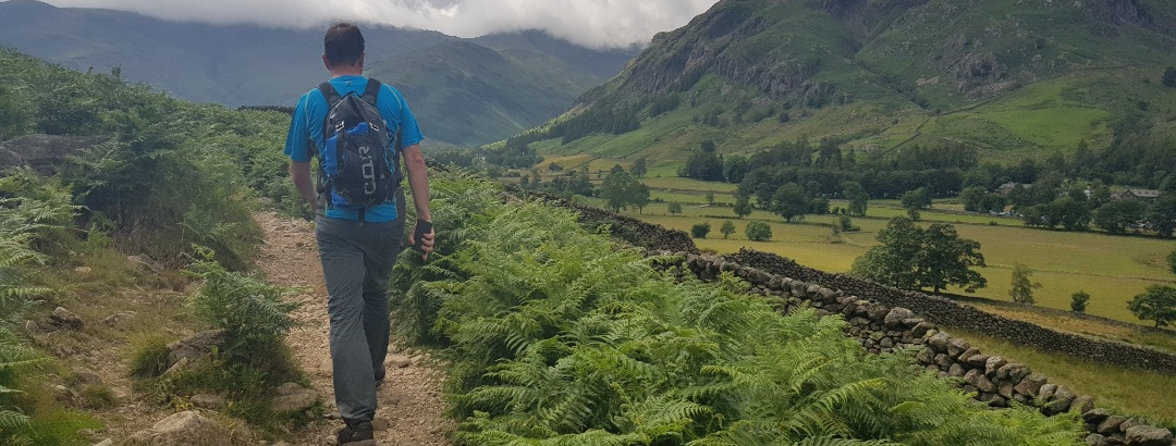 Stony, rugged tracks as you approach Great Langdale