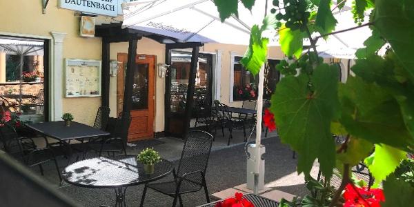 Der Biergarten des Café Dautenbach