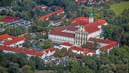 Klosterareal Fürstenfeldbruck aus der Vogelperspektive