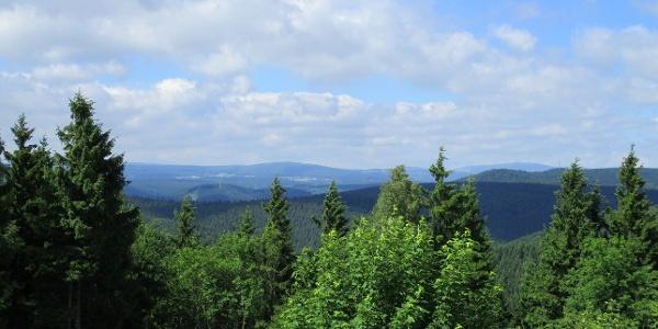 Aussicht vom Ravensberg zum Brocken