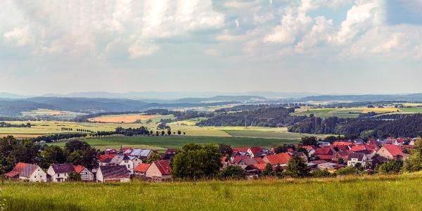 Blick auf Friedrichshausen