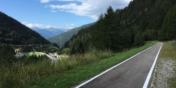 Auf der alten Brennerbahnstrecke