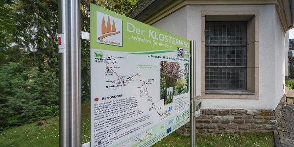 Infotafel am Start des Klosterwegs