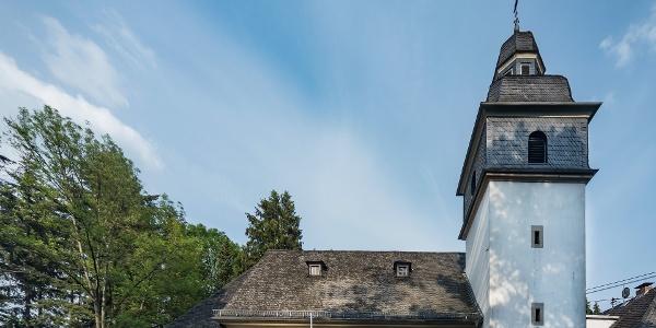 Startpunkt an der St. Kastor Kapelle in Rengsdorf