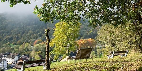 Rastplatz am Clausberg oberhalb von Niederbreitbach
