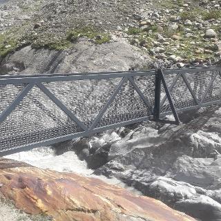 Neue Brücke über die Gurgler Aache - Schäferweg