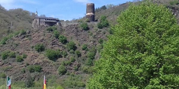 Blick auf Burg Bischofsstein