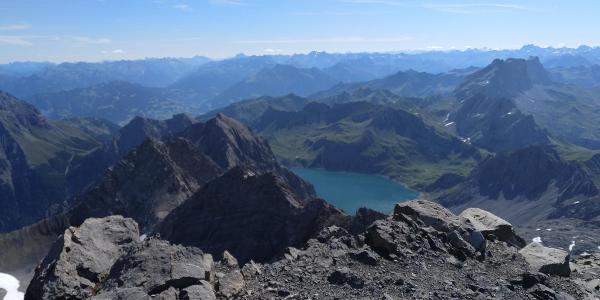 Blick vom Gipfel Richtung Lünersee