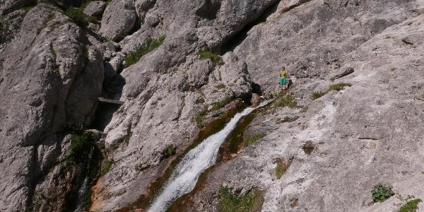 Der Wasserfall (Slap) Nadiža, der Save Ursprung