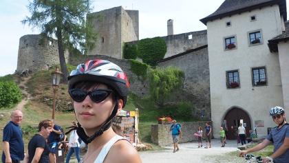 Vstup do hradu Landštejn (Česká Kanada)