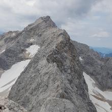 Blick zurück auf die Zugspitze