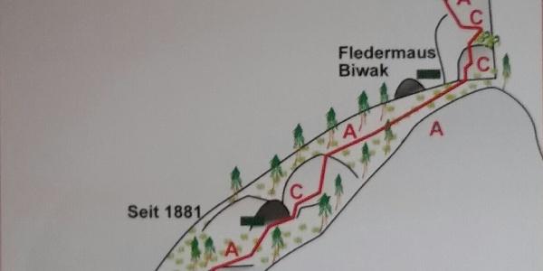 TOPO Seewand Klettersteig