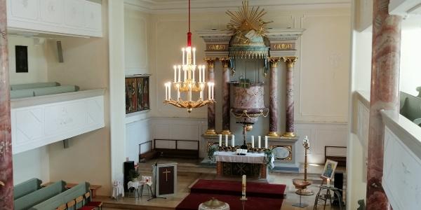 Innenraum der Lorenzkirche Hof