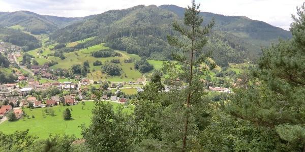 Blick über Gutach vom Moserstein