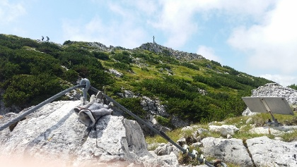 Ausstieg vom Klettersteig