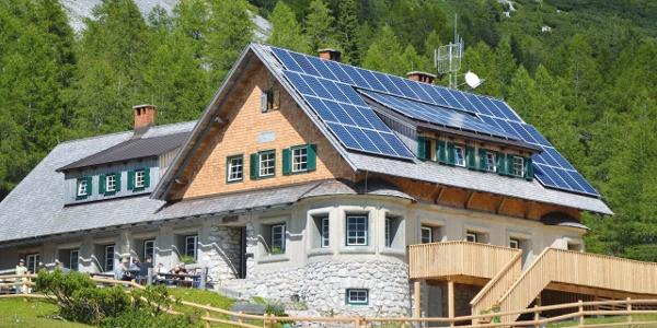 die renovierte Klagenfurter Hütte - Südwestansicht