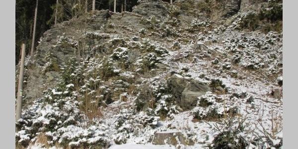 Phylitt-Aufschluss Druckersmühle Grünbach