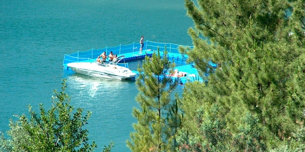 Zaboeira floating swimming pool