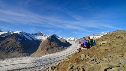 View Point Eggishorn - tolle Aussichten auf den Grossen Aletschgletscher und die Walliser und Berner Alpen