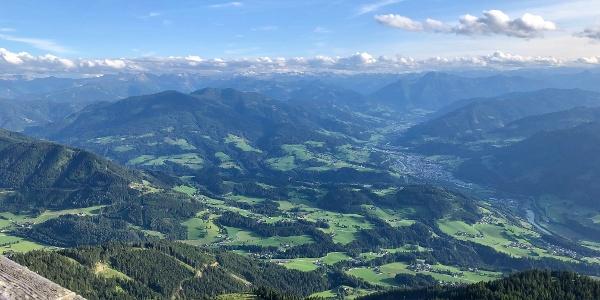 Ausblick auf das Salzachtal - Werfener Hütte