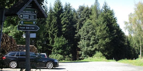 Parkplatz an der Juchhöh Ellefeld Richtung Hammerbrücke