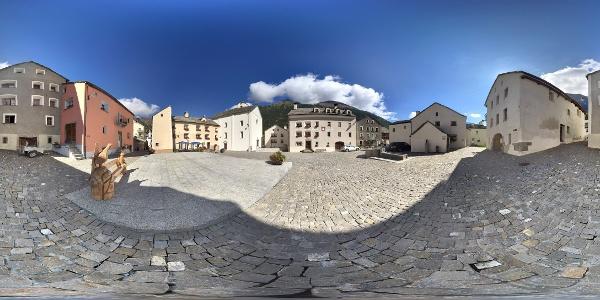 Dorfplatz Simplon Dorf
