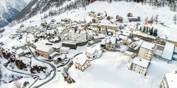 Simplon Dorf im Winter