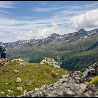 Herrliche Trails oberhalb von Obergurgl.