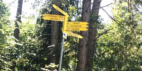 Wegweiser zum Linserhof