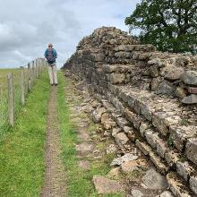 Consolidated wall section, west of Gilsland