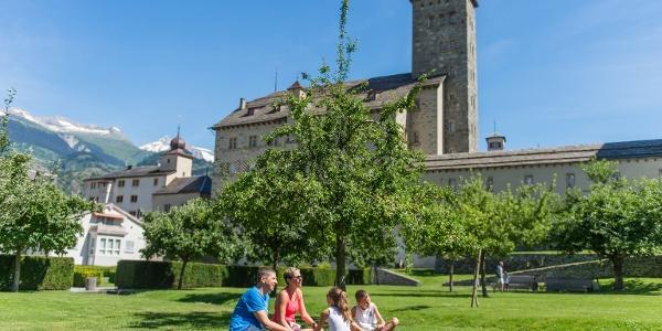 Schlossgarten Stockalperschloss Brig
