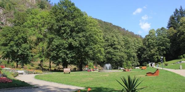 Der Kurpark in Bad Berneck