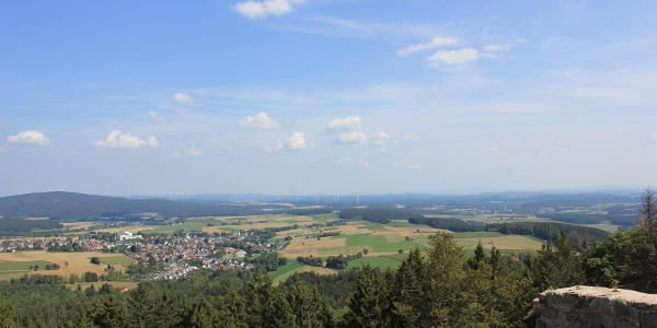 Aussicht von der Burgruine Epprechtstein