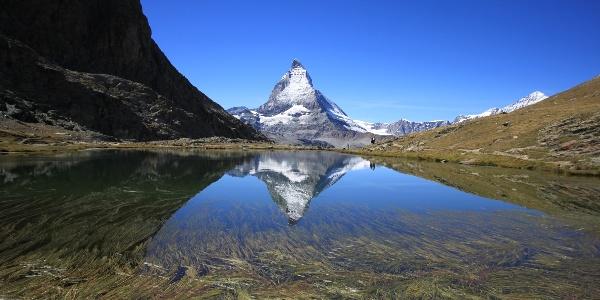 Riffelsee mit der weltberühmten Matterhornspiegelung