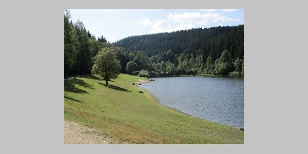 Badestelle und Liegewiese Talsperre Falkenstein