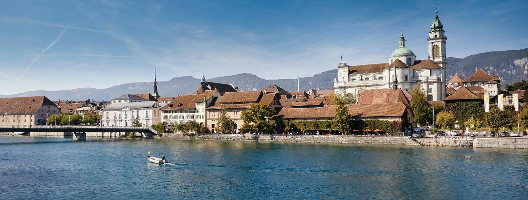 Stadtsilhouette von Solothurn.