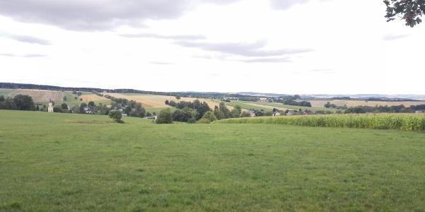 Feldradrunde, Blick auf Beutha vom Rande des Pfarrwaldes