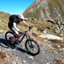 Technisch anspruchsvoller Downhill nach Kapelle