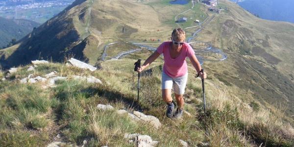 La Manera Nordostgrat über der Alpe Foppa