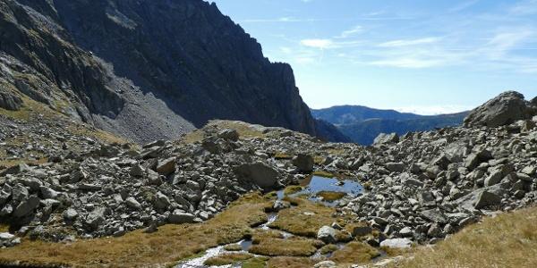 Karlandschaft beim Aufstieg auf die Cima di Mercantour