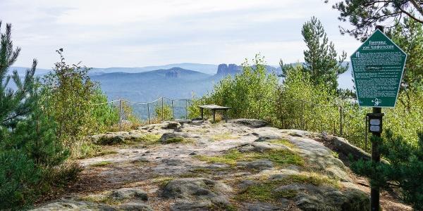 Die wunderschöne Aussichtsstelle des Kohlbornsteins