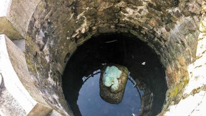 im Brunnen in stecklenburg entdeckt