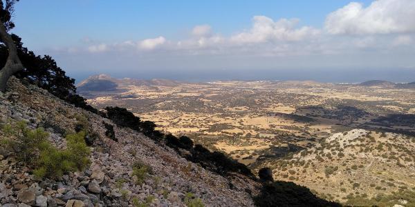 Wegverlauf - Blick auf den südlichen Teil der Insel