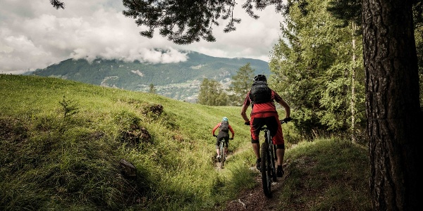Mountainbike downhill in the region of Giw