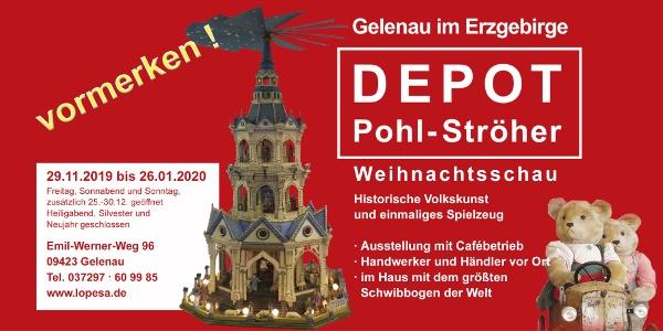 Plakat Weihnachtsschau Depot Pohl-Ströher