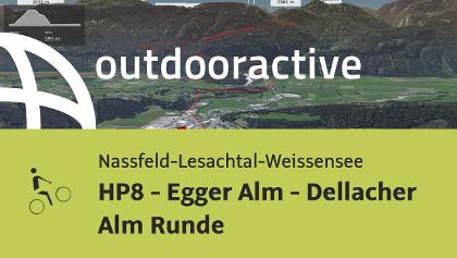Mountainbike-tour in der Naturarena Kärnten: HP8 - Egger Alm - Dellacher Alm Runde