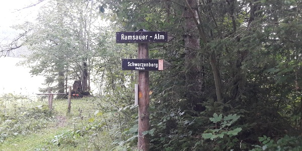 Abzweigung Richtung Ramsauer Alm