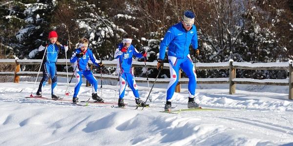 Langlaufzentrum Vermiglio, spezialisierte Skilehrer für den Unterricht mit Kindern