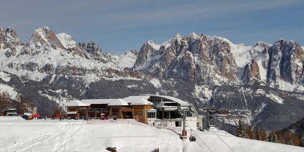 Ski Area Moena, in Val di Fassa, part of the Dolomiti Superski
